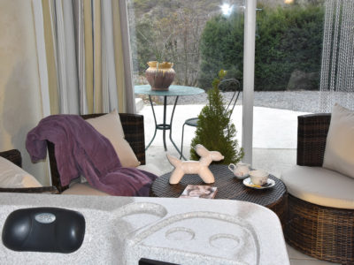Le jardin d'hiver et son spa