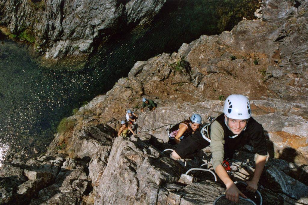 Via Ferrata dans le Gorges de l'Ardèche